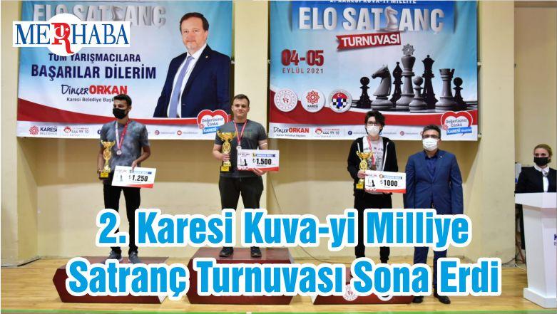 2. Karesi Kuva-yi Milliye Satranç Turnuvası Sona Erdi
