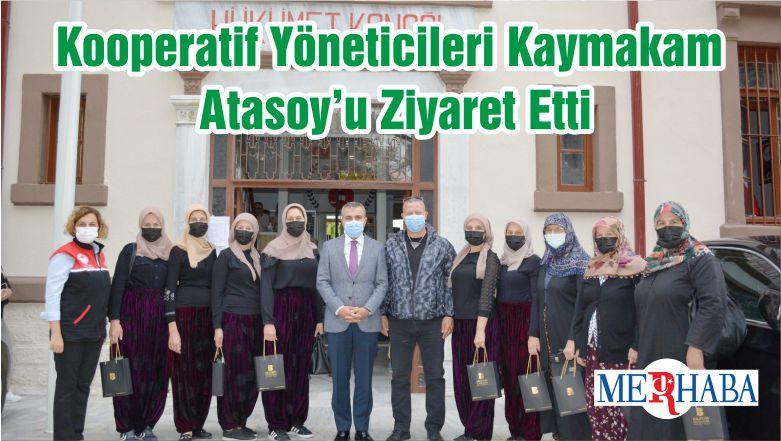 Kooperatif Yöneticileri Kaymakam Atasoy'u Ziyaret Etti