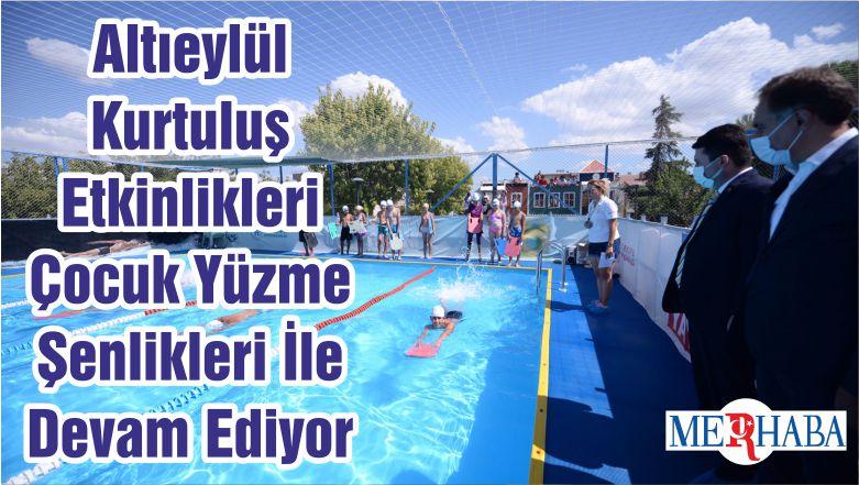 Altıeylül Kurtuluş Etkinlikleri Çocuk Yüzme Şenlikleri İle Devam Ediyor
