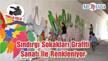 Sındırgı Sokakları Grafiti Sanatı İle Renkleniyor