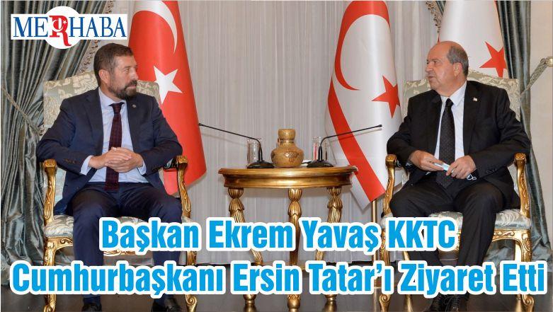 Başkan Ekrem Yavaş KKTC Cumhurbaşkanı Ersin Tatar'ı Ziyaret Etti