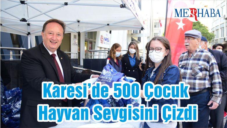 Karesi'de 500 Çocuk Hayvan Sevgisini Çizdi